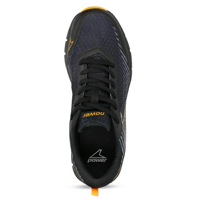 Černé dětské sportovní tenisky s oranžovými prvky power, černá, 409-6700 - 17