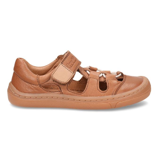 Hnědé dětské kožené sandály na suchý zip froddo, hnědá, 264-4610 - 19