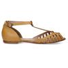Hořčicové dámské kožené sandály bata, žlutá, 524-8610 - 19