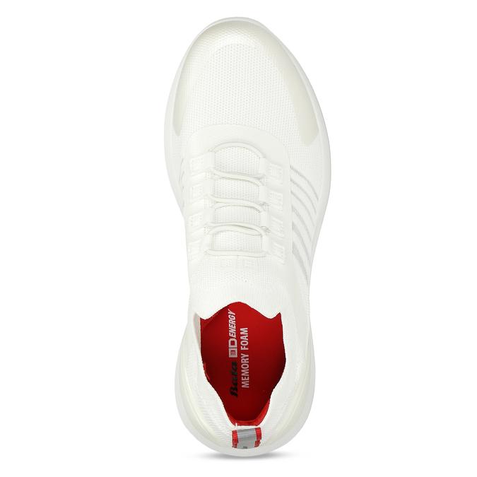 Bílo-stříbrná dámské sportovní tenisky bata-3d-energy, bílá, 549-1609 - 16