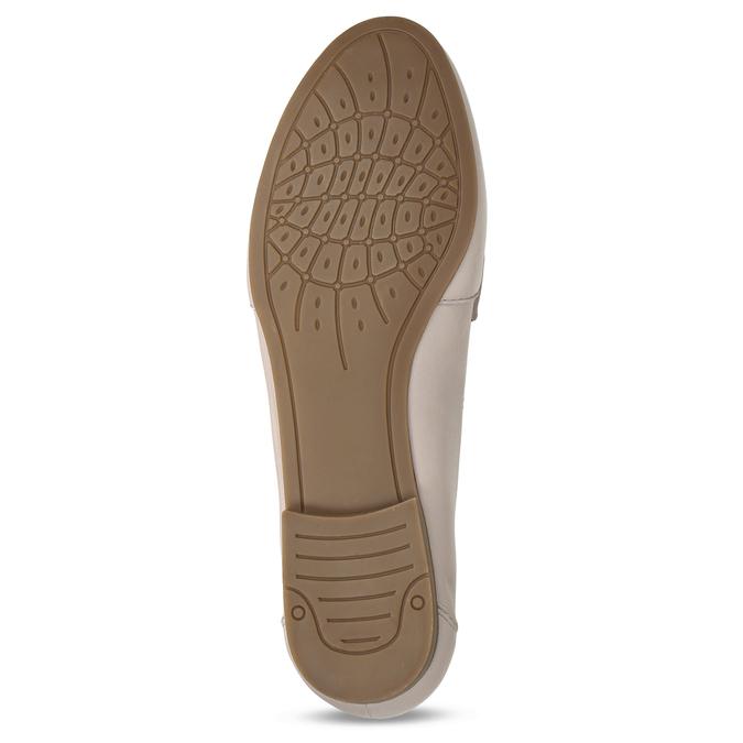 Béžové dámské kožené mokasíny bata, růžová, 514-8600 - 18