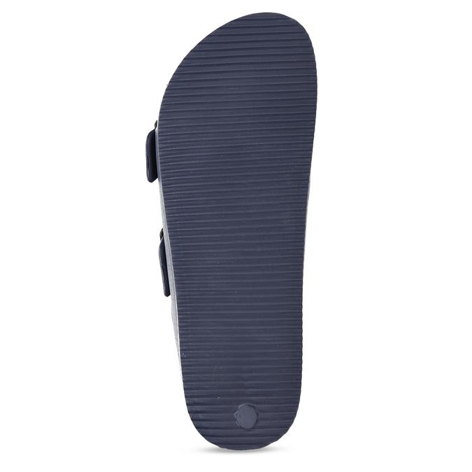 Modré pánské pantofle bata, modrá, 872-9600 - 18