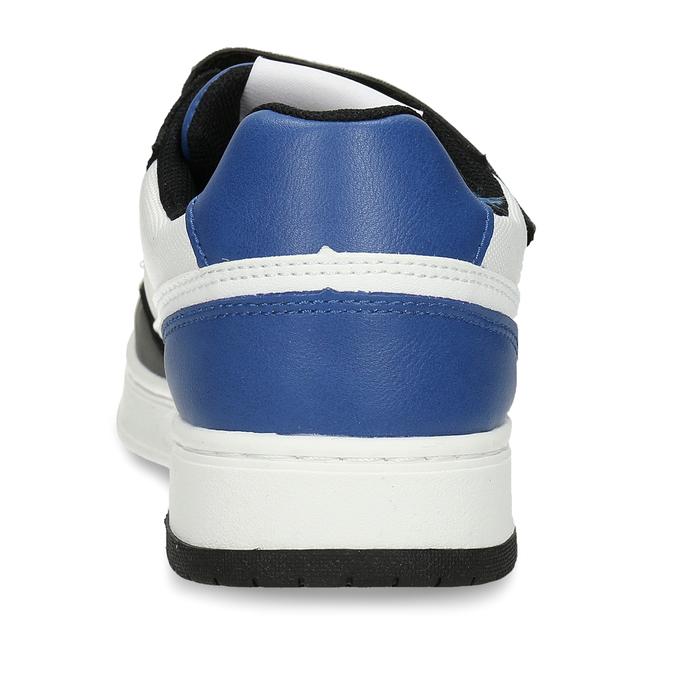 Bílé chlapecké tenisky s modrými a černými prvky levis, vícebarevné, 411-0600 - 15
