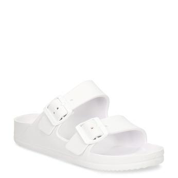 Bílé pánské pantofle bata, bílá, 872-1600 - 13