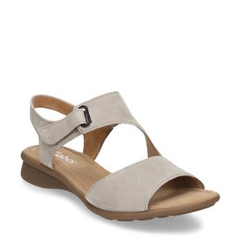Šedé dámské kožené sandály gabor, šedá, 563-2600 - 13