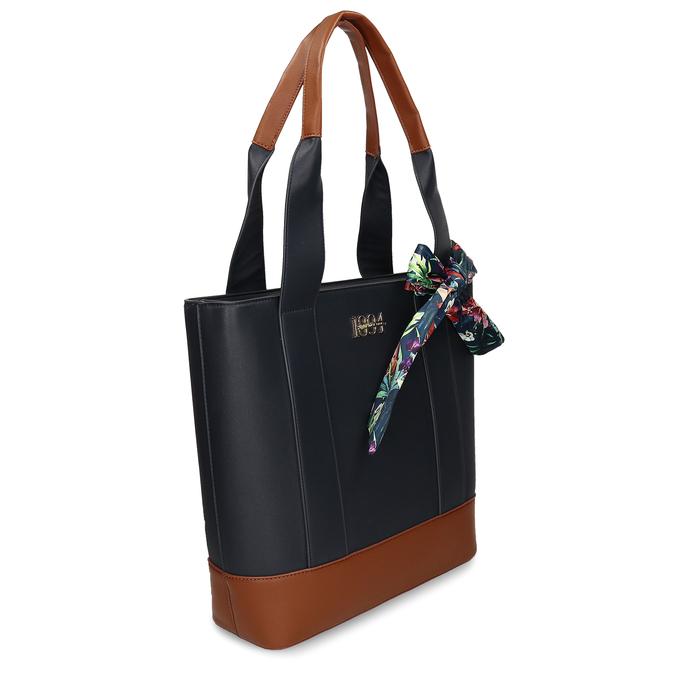 Tmavě modrá dámská kabelka střední velikosti bata, modrá, 961-9502 - 13