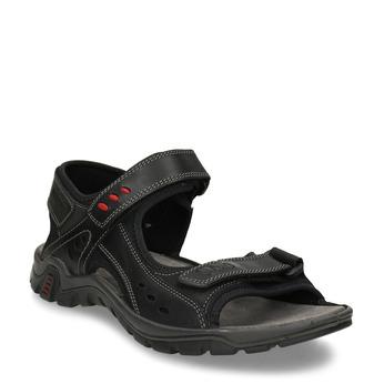 Černé pánské kožené sandály weinbrenner, černá, 866-6602 - 13