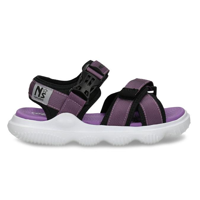 Fialové dívčí sandály na suchý zip north-star, fialová, 469-9631 - 19