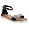 Kožené černé dámské sandály s metalickým vzorem bata, černá, 564-6619 - 13