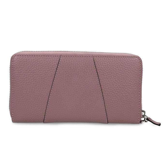 Růžová kožená dámská peněženka bata, růžová, 944-5609 - 16