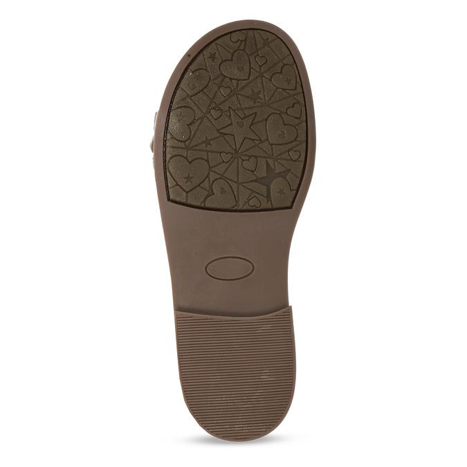 Tmavě růžové dětské kožené sandály mini-b, růžová, 366-5603 - 18