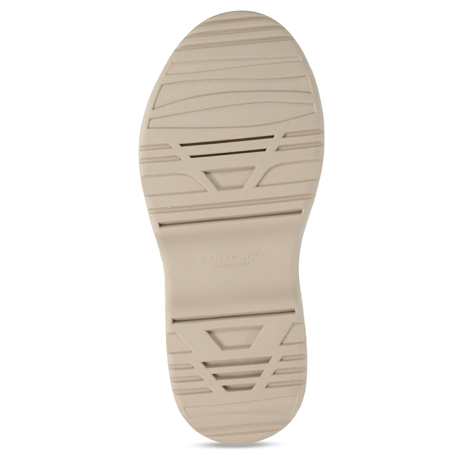 Béžové dámské kožené sandály na robustní podešvi vagabond, béžová, 569-1600 - 18