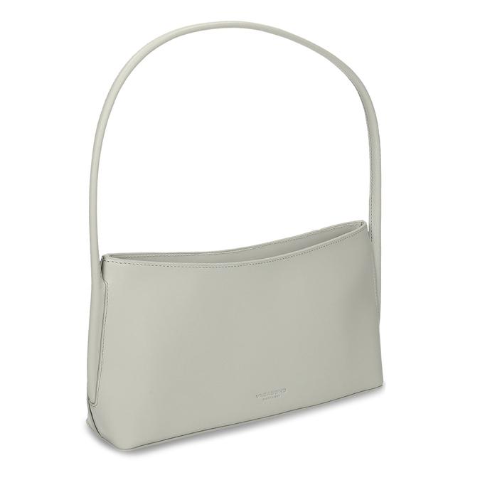 Šedá jednoduchá kožená dámská kabelka vagabond, šedá, 964-1638 - 13