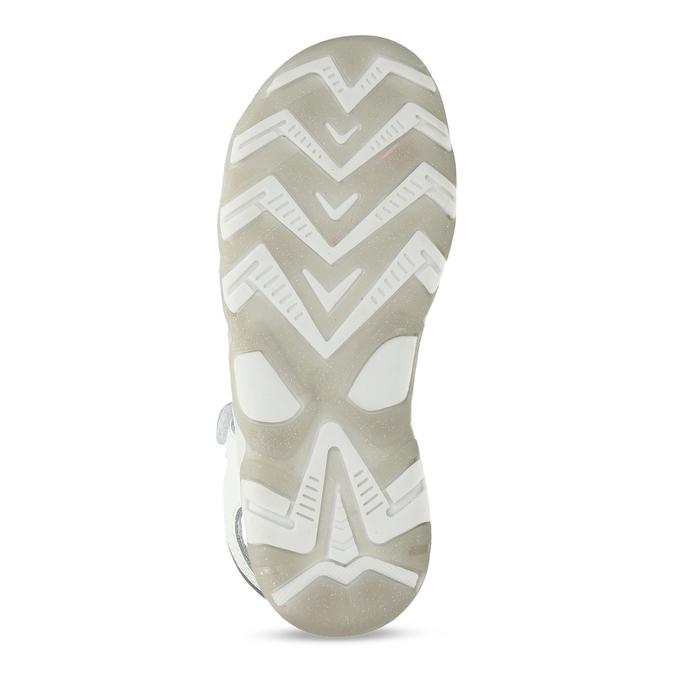 Bílé kožené dívčí sandály s hvězdičkami mini-b, bílá, 264-1601 - 18