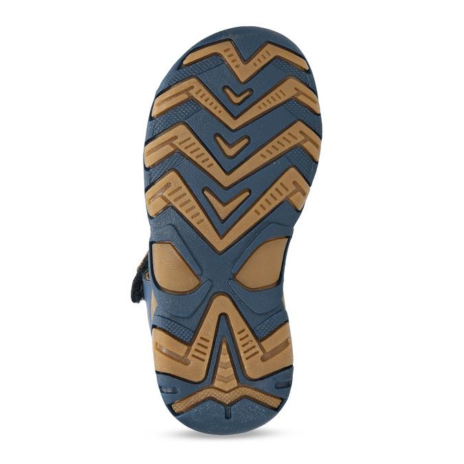 Modré chlapecké kožené sandály s plnou špičkou bubblegummers, modrá, 164-9630 - 18