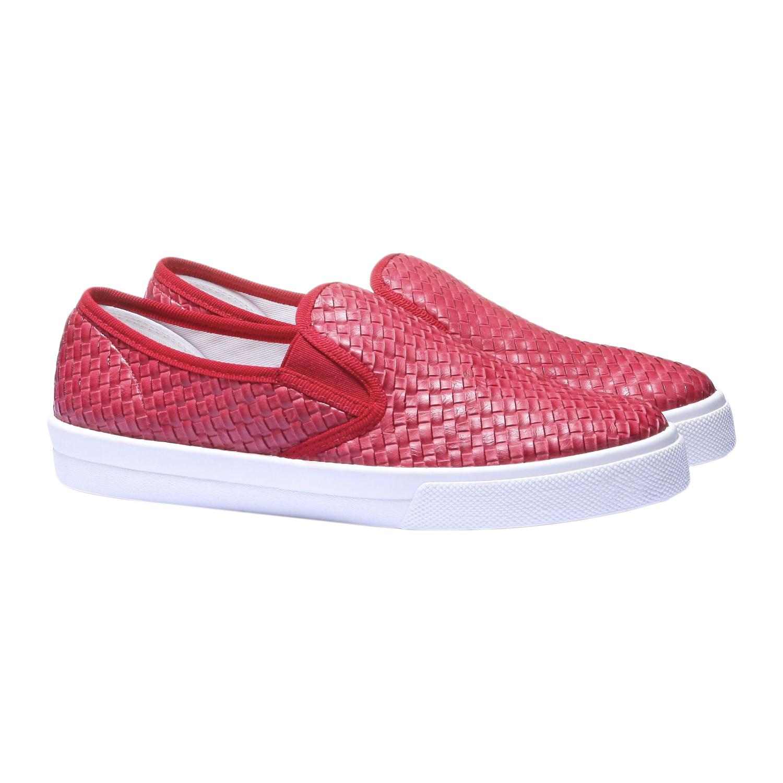 Trendy tenisky v zapleteném designu bata, červená, 2019-511-5124 - 26