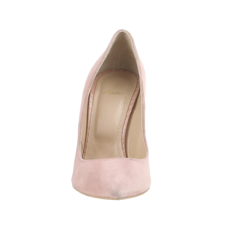 Klasické semišové lodičky  bata, růžová, 2017-723-5331 - 16