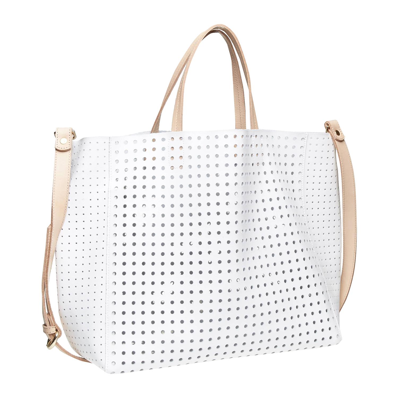 Kožená kabelka ve svěžím designu bata, bílá, 2017-964-1130 - 13