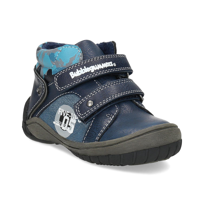 Bubblegummers Dětské kotníkové boty na suché zipy modré - Kotníková ... 44b26a845b