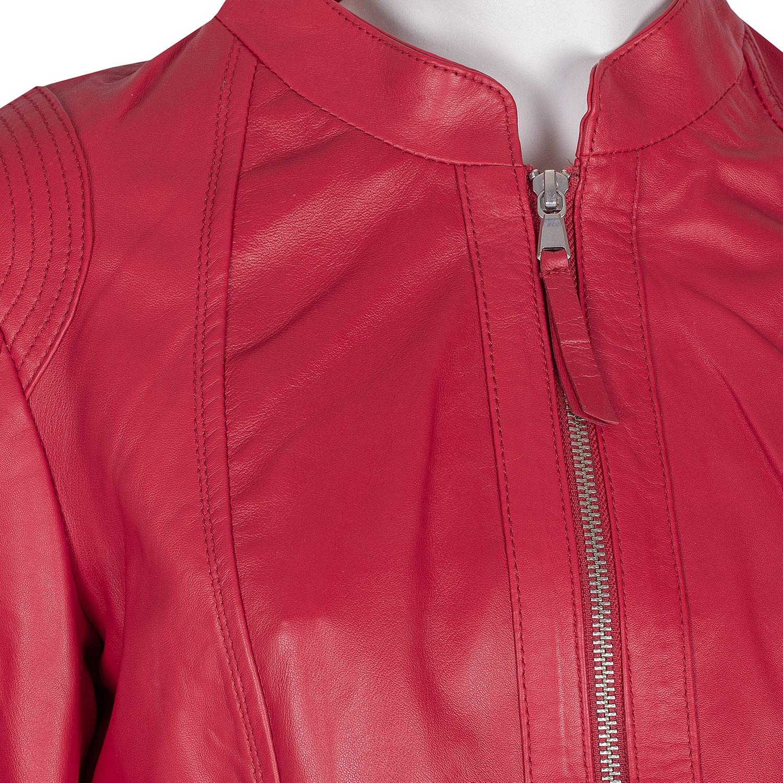 43a12edc799d Baťa Červená kožená bunda - Dámské