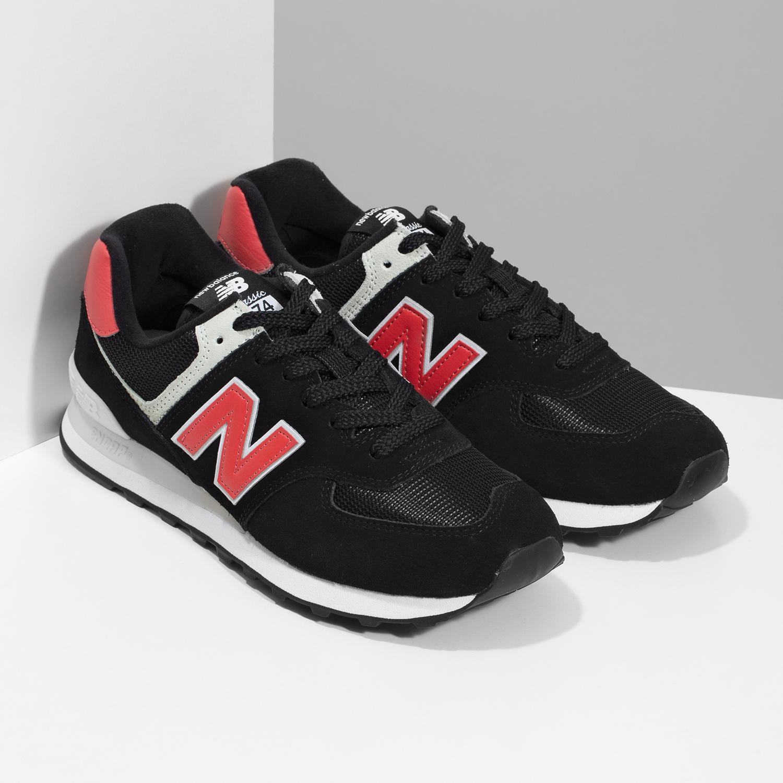 New Balance Černé pánské tenisky z broušené kůže - Muži  07b58bfb98