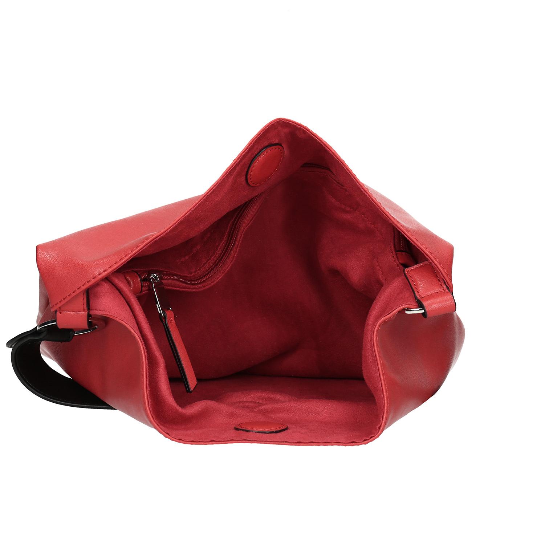 023f5f001225 Baťa Červená Hobo kabelka s černými detaily - Velké kabelky